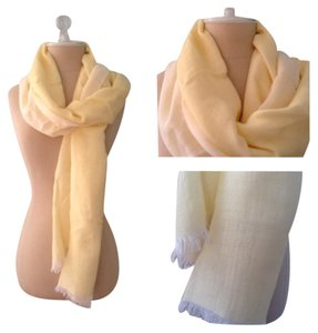 Banana Republic NEW!! Banana Republic Scarf Pastel Yellow Scarf