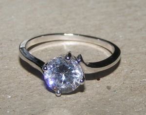 Promise White Topaz Ring Free Shipping