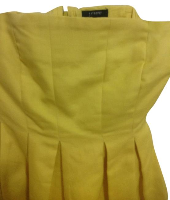 Preload https://img-static.tradesy.com/item/842378/jcrew-yellow-knee-length-cocktail-dress-size-2-xs-0-0-650-650.jpg