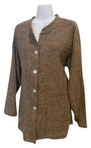 Dialogue Linen Tan Earthy Brown Blazer