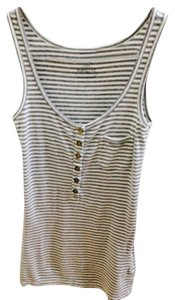 J.Crew Top Gray and white stripes