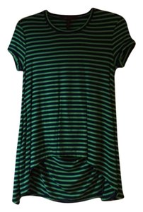 BCBGMAXAZRIA T Shirt Green and navy