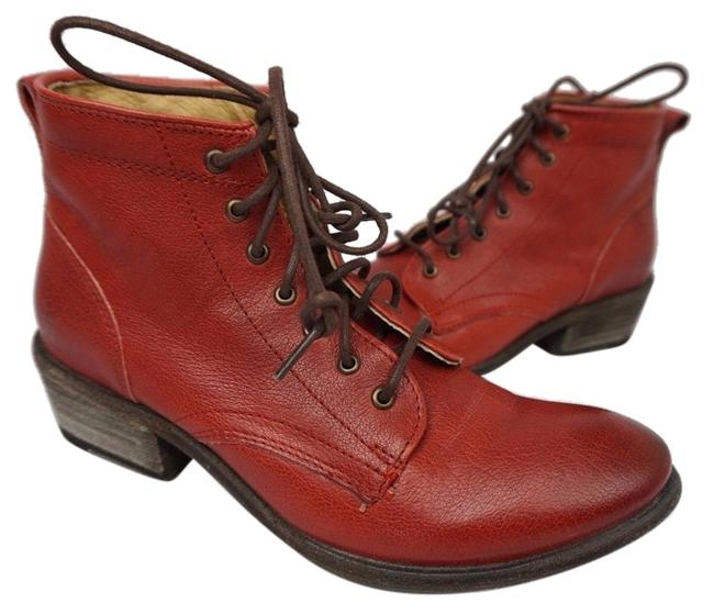Item - Red Carson Lace Up Women's Burnt Boots/Booties Size US 5.5 Regular (M, B)