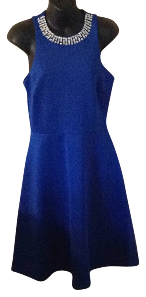 Saks Fifth Avenue Royal Blue Knee Length Cocktail Dress Size 4 (S ...
