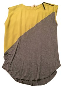BCBGeneration T Shirt Yellow and gray