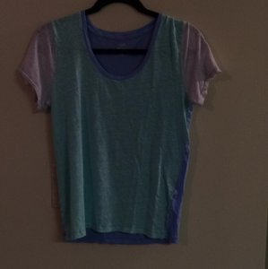 J.Crew T Shirt Green/blue/white