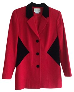 Urban Wool Merino Collection 100% Red and Black Blazer