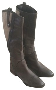 Sam Edelman Leather Suede Two-tone Casual Brown Boots