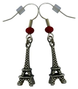 Other Eiffel Tower Paris earrings Sterling Silver plated French Hooks