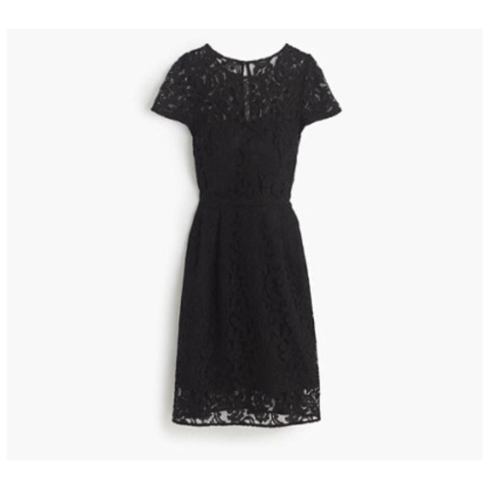 J Crew Blac Alisa In Leavers Lace Knee Length Short Casual Dress Size 2 Xs 55 Off Retail