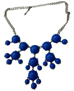 Other BIB Blue Statement Cabochon Chandelier Chunky Necklace New no tags