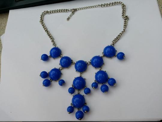 Other BIB Blue Statement Cabochon Chandelier Chunky Necklace New no tags Image 1
