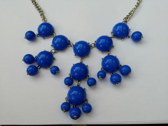 Other BIB Blue Statement Cabochon Chandelier Chunky Necklace New no tags Image 2