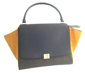 Céline Celine Tricolor Tripeze Green Shoulder Bag