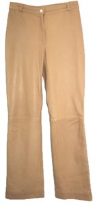 St. John Couture Leather Straight Pants