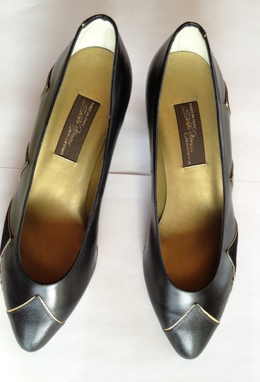 Sesto Meucci Black with Gold Pumps