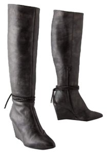 Anthropologie Pewter dusted Boots
