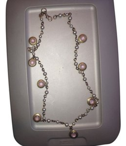 Coach Coach Charm Necklace Pink Gold and Pearl