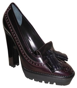 Burberry Prorsum Burgundy Wedges