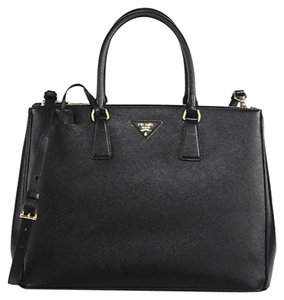 Prada Leather Tote in Black