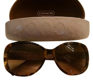 Coach COACH SUNGLASSES Dark Tortoise with gold accent & COACH CASE L927