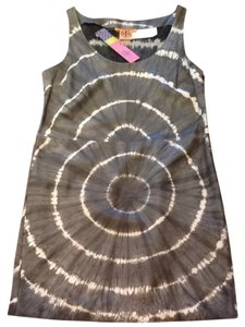 Tory Burch Leather Tie-dye Sleeveless Scoop Neck Dress