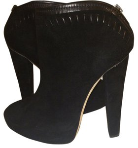Jimmy Choo Stitched Suede Platform Blac Boots