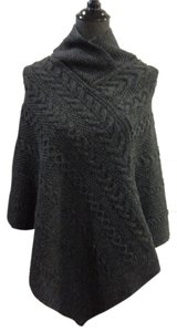 Inis Crafts Cable Knit Wool Cape