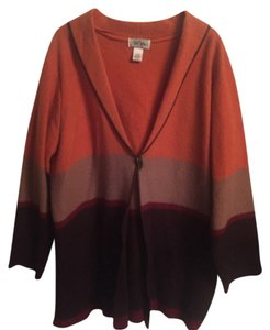 Bob Mackie Orange, Brown, Tan & Dark Red Blazer