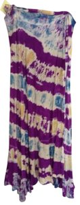Groovy Blueberry Skirt Purple Blue Tie Dye