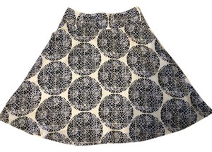 The Limited Skirt Navy & White Print