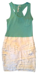 Aryn K short dress Turquoise & White on Tradesy