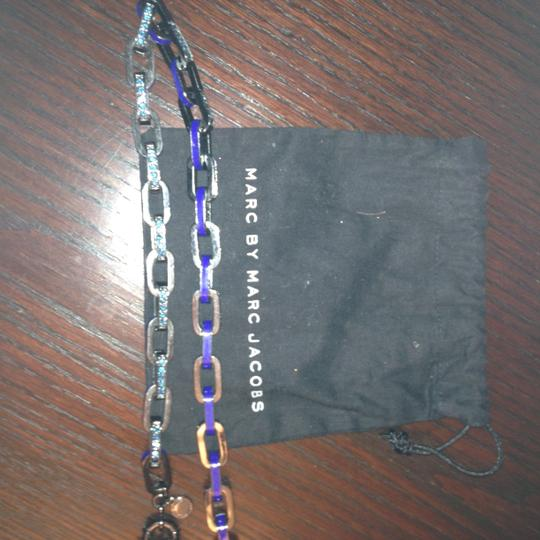 Marc Jacobs Marc Jacobs chain link necklace. Alternaet links have blue rhinestones on the link