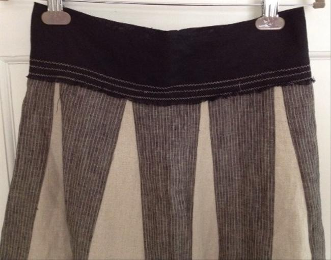 Clotheorie Skirt Black Gray Tan