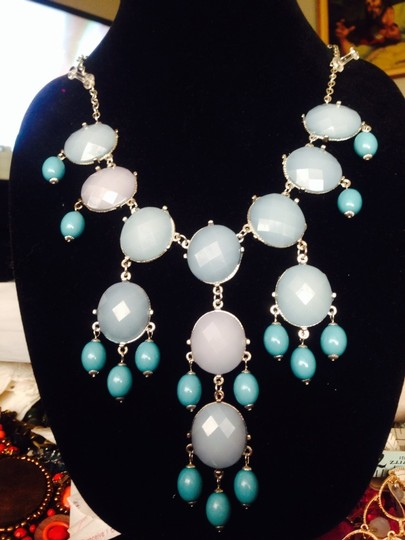 Not Rated Baby Blue Drop Beaded Necklace