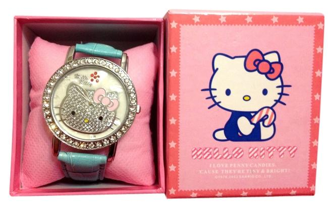 Item - Baby Blue Crystal Face Watch