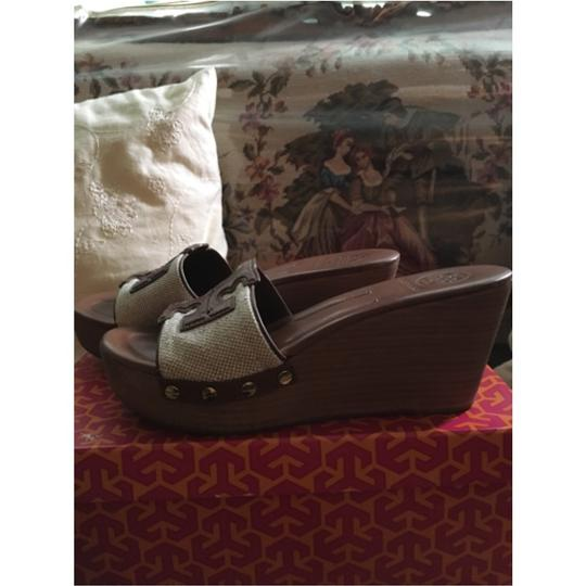 Tory Burch Natural/luggage Wedges Image 1