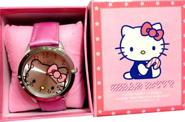 Item - Magenta Pink Solid Large Face Watch