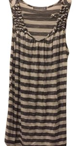 Olivia Moon Sheer Comfortable Lightweight Top Black/white