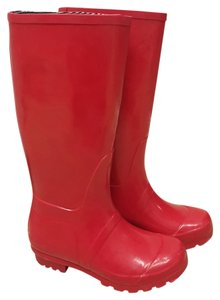 Target Knee-high Rubber Rain Red Boots