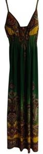 Green patterned Maxi Dress by She's Cool