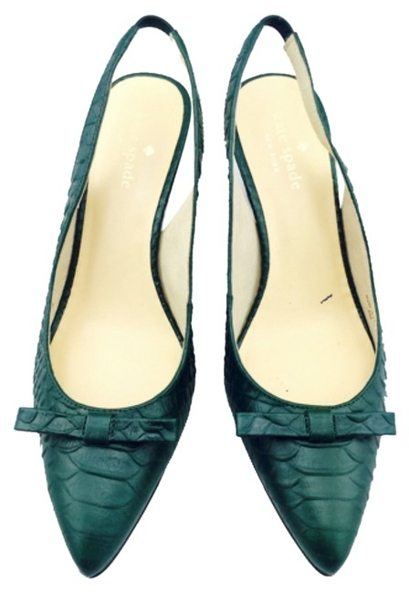Item - Green Sling Back Low New with Tags Pumps Size US 6 Regular (M, B)
