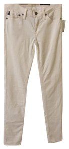 AG Adriano Goldschmied Skinny Pants Cream Chords