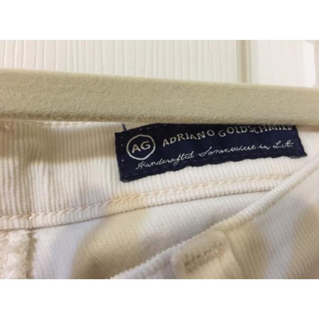 AG Adriano Goldschmied Skinny Pants Cream Chords Image 3