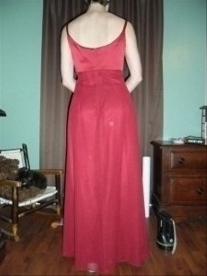 Dessy Red Organza 999 Feminine Bridesmaid/Mob Dress Size 2 (XS) Image 1