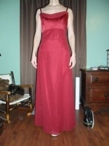 Dessy Red Organza 999 Feminine Bridesmaid/Mob Dress Size 2 (XS)
