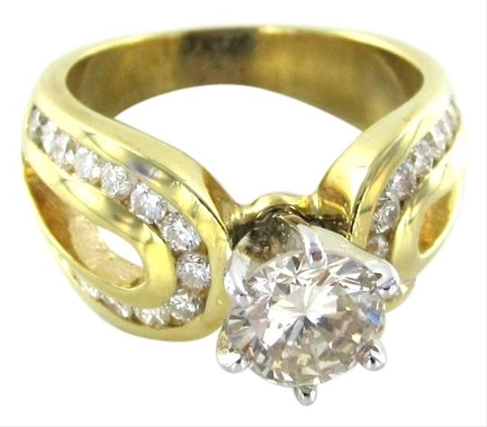 Other 14KT SOLID YELLOW GOLD RING WEDDING BAND 31 DIAMOND SOLITAIRE BRIDAL ENGAGEMENT