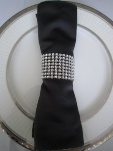 Diy Custom Fit - 24 Rows X 30ft Silver Table Napkin Ring Bing Bing 8 Colors Available