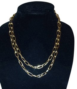 Lands End Classic Gold Plated Necklace