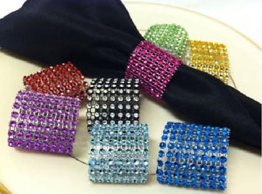Red Hot Diy Custom Fit - 24 Rows X 30ft Table Napkin Ring Bing Bing 8 Colors Available